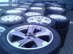 Mercedes rims with tire