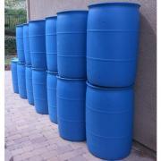 Tupperware and Water Barrels